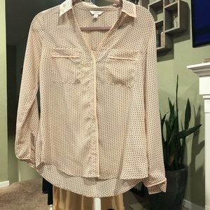 Candies Size Small Sheer Chevron Print Blouse